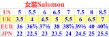 1.SALOMON 鞋請參照碼數對照表
